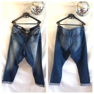Torrid Mid Rise Stretch Cropped Boyfriend Jeans